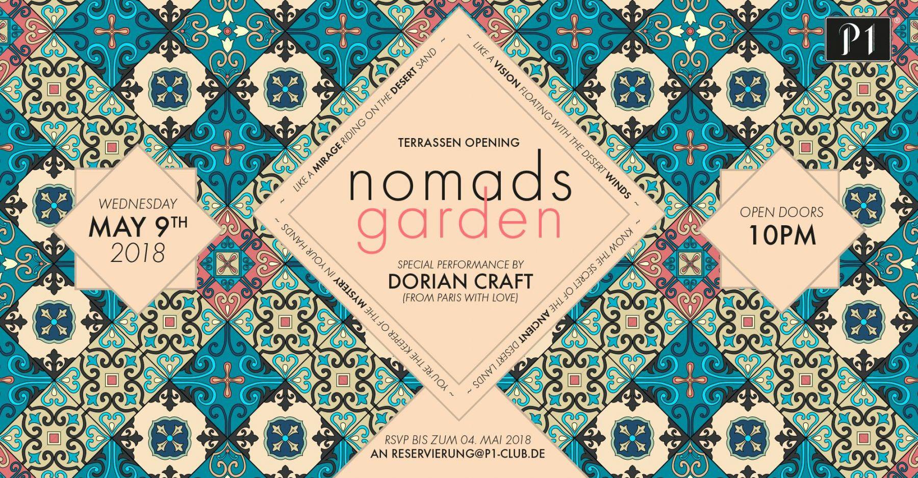 p1 terrassen opening nomads garden p1 club bar events m nchen. Black Bedroom Furniture Sets. Home Design Ideas